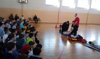 Prelekcja strażaków z OSP Stronie