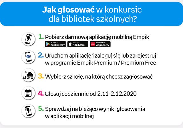 Zagłosuj na naszą szkołę w konkursie EMPIK'u!