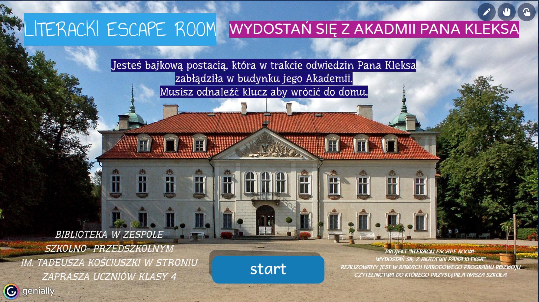 """""""Literacki escape room- Wydostań się z Akademii Pana Kleksa"""""""