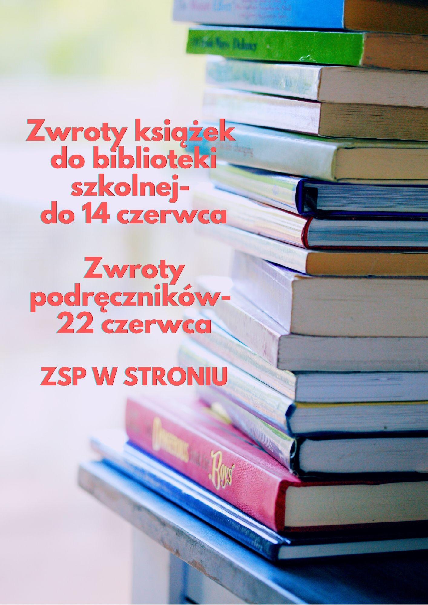 Procedury zwrotów książek i podręczników szkolnych